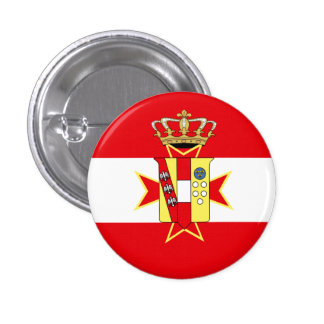 Red White Banner Grand Duchy of Tuscany Pinback Buttons