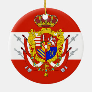Red White Banner Grand Duchy of Tuscany Ceramic Ornament