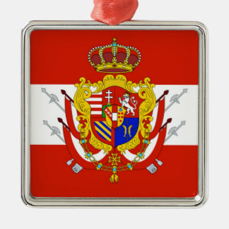 Red White Banner Grand Duchy of Tuscany Metal Ornament