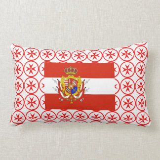 Red White Banner Grand Duchy of Tuscany Throw Pillow