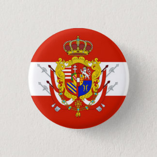 Red White Banner Grand Duchy of Tuscany Pinback Button