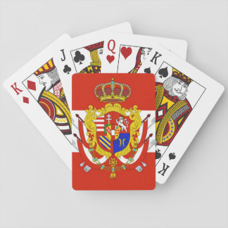 Red White Banner Grand Duchy of Tuscany Playing Cards