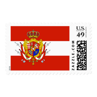 Red White Banner Grand Duchy of Tuscany Stamp