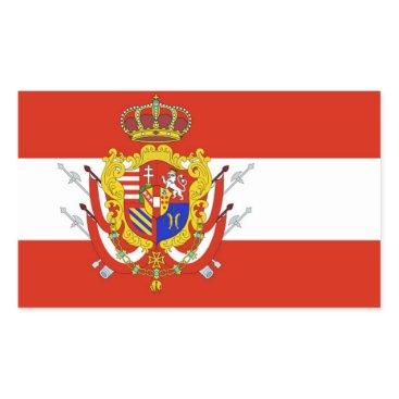Red White Banner Grand Duchy of Tuscany Rectangular Sticker