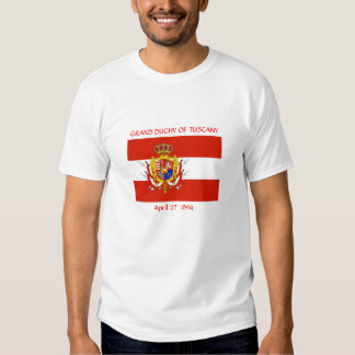 Red White Banner Grand Duchy of Tuscany T Shirt