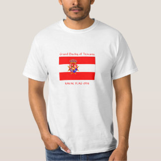 Red White Banner Grand Duchy of Tuscany T-shirt