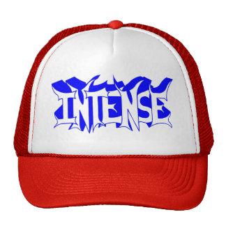 Red/White Baseball Cap with Blue Intense Logo Trucker Hat
