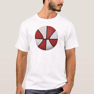 Red & White Basketball: T-Shirt