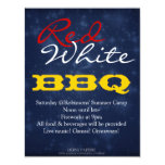 """Red White BBQ"" July 4th BBQ Party Invitation"
