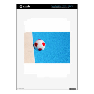 Red-white beach ball floating  in swimming pool decal for iPad 3