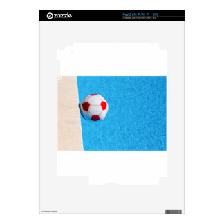 Red-white beach ball floating  in swimming pool iPad 2 decal