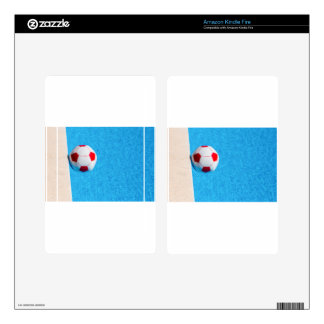 Red-white beach ball floating  in swimming pool skin for kindle fire