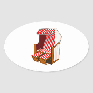 Red & White Beach Chair Theme Stickers