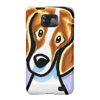Red/White Beagle Face Off-Leash Art™ Samsung Galaxy SII Covers