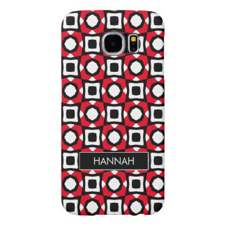 Red White Black abstract ladybird Samsung Galaxy S6 Case