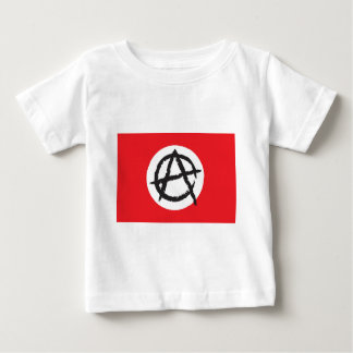 Red, White & Black Anarchy Flag Sign Symbol Baby T-Shirt