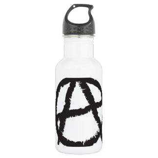 Red, White & Black Anarchy Flag Sign Symbol Stainless Steel Water Bottle