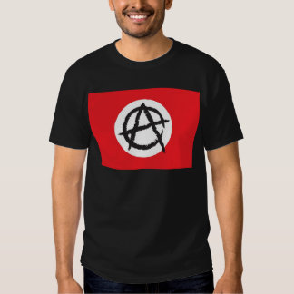 Red, White & Black Anarchy Flag Sign Symbol T-shirt