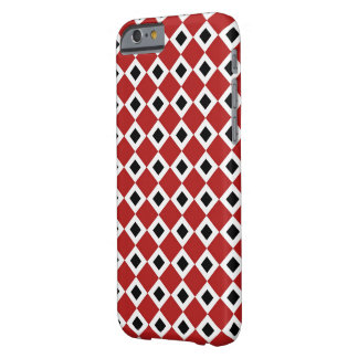 Red, White, Black Diamond Pattern Barely There iPhone 6 Case