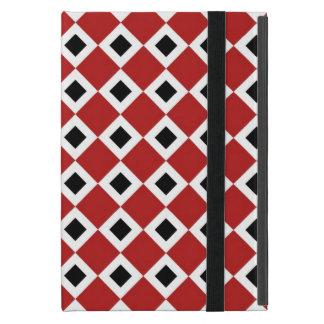 Red, White, Black Diamond Pattern Case For iPad Mini