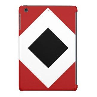 Red, White, Black Diamond Pattern iPad Mini Cases