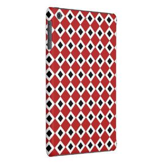 Red, White, Black Diamond Pattern iPad Mini Retina Case