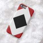 Red, White, Black Diamond Pattern iPhone 6 Case