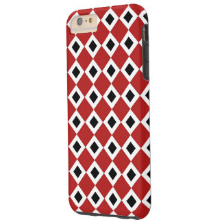 Red-White-Black Diamond Pattern iPhone 6 Plus Case