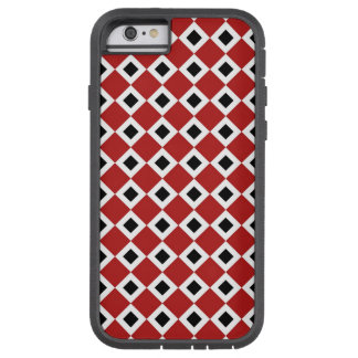 Red, White, Black Diamond Pattern iPhone 6 Tough Tough Xtreme iPhone 6 Case