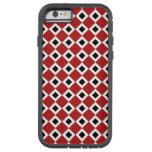 Red, White, Black Diamond Pattern iPhone 6 Tough iPhone 6 Case