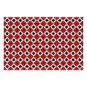 Red, White, Black Diamond Pattern