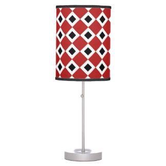 Red, White, Black Diamond Pattern Table Lamp