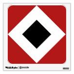 Red, White, Black Diamond Pattern Wall Decor