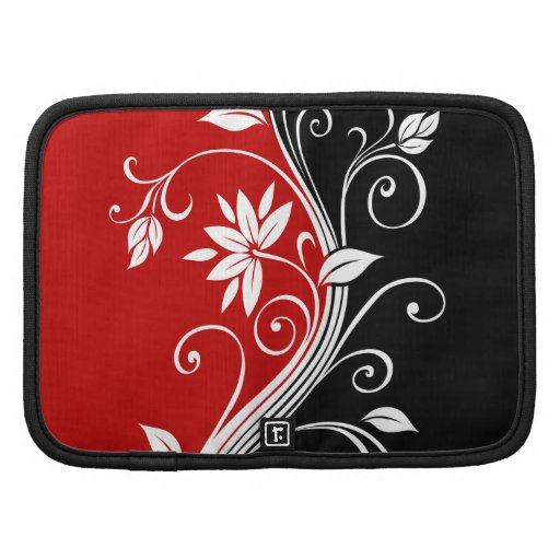 Red  White & Black Floral Organizers