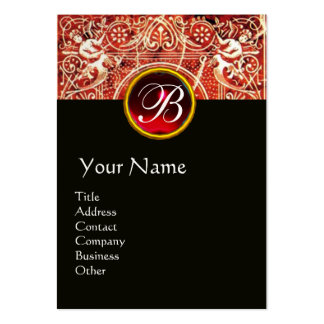 RED WHITE BLACK FLORAL SWIRLS AND ANGELS BUSINESS CARD TEMPLATE