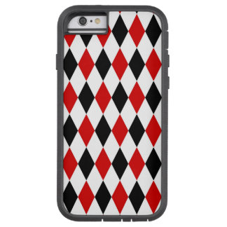 Red White Black Harlequin Diamond Pattern Tough Xtreme iPhone 6 Case