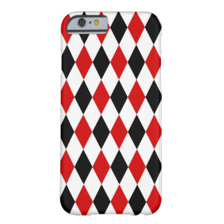 Red White Black Harlequin Diamond Pattern Barely There iPhone 6 Case
