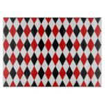 Red White Black Harlequin Diamond Pattern Cutting Boards