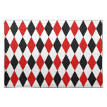 Red White Black Harlequin Diamond Pattern Place Mats