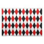 Red White Black Harlequin Diamond Pattern Place Mats