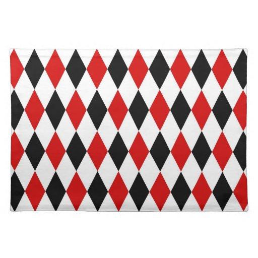 Red White Black Harlequin Diamond Pattern Placemat Zazzle : redwhiteblackharlequindiamondpatternplacemat rf1bec02b8c3a43bd9e8e6919114c70632cfku8byvr512 from www.zazzle.com size 512 x 512 jpeg 54kB