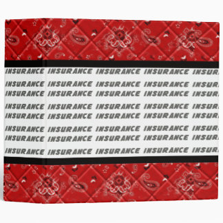 Red White Black Insurance Policy Avery Binder