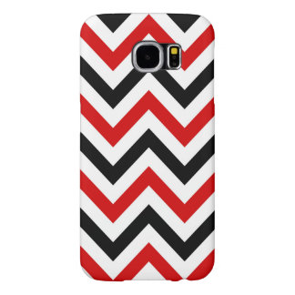 Red, White, Black Large Chevron ZigZag Pattern Samsung Galaxy S6 Case