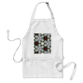 Red White Black Masculine Pattern Adult Apron