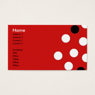Red White Black Polka Dots Business Card