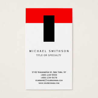 Red White Black Simple Travel Agent Business Card