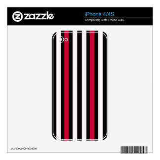 Red White Black Striped iPhone 4 Skin
