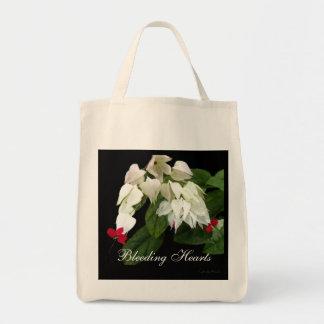 Red White Bleeding Hearts Tote Bag