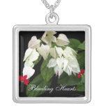 Red White Bleeding Hearts Custom Jewelry
