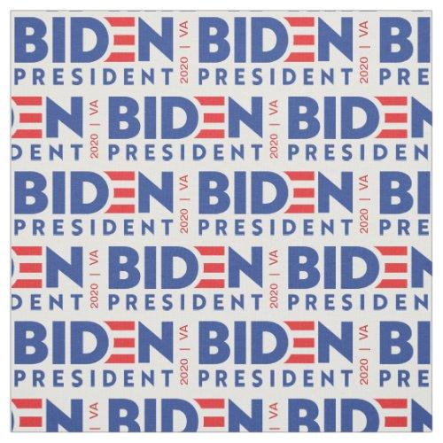 Red White Blue 2020 Joe Biden for President Fabric